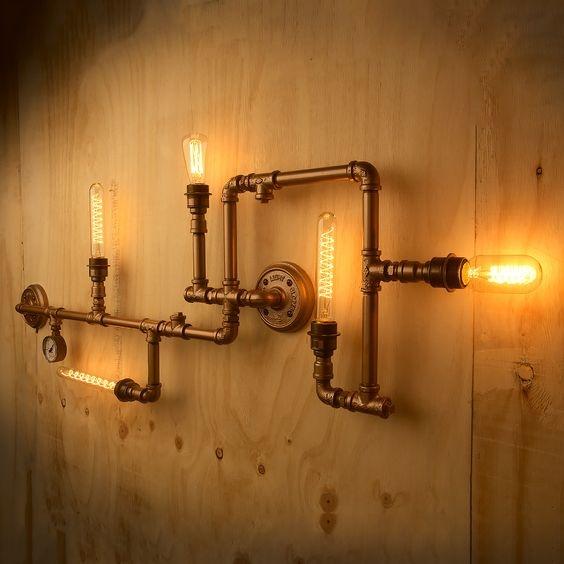 有圖 請問工業風水管這些書架 Amp 層板 Amp 燈具都是訂製的嗎 還是有現成品可買 還有水電工班都會做嗎 Mobile01