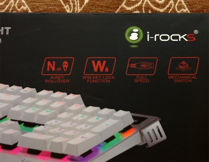 銀白炫麗 i-Rocks K60M《分行背光》RGB機械式鍵盤 開箱體驗 - 3