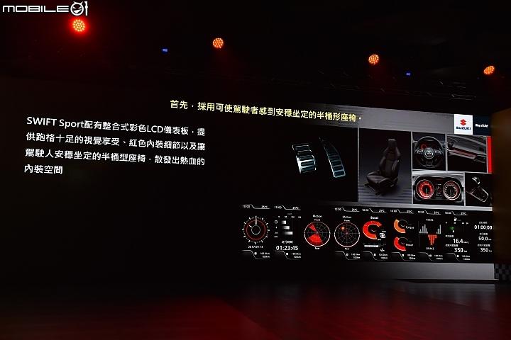 Suzuki Swift Sport 80.8萬元正式發表,配有整合式彩色LCD儀表板