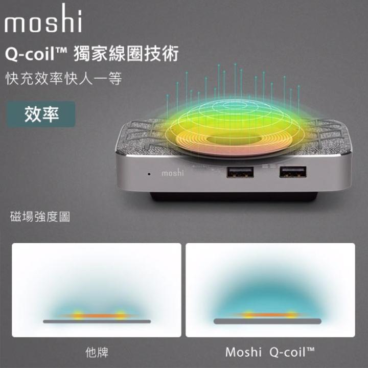 新春第一炮~《 Moshi Symbus Q 多功能無線充電擴充基座 》筆電充電、無線充電、快充、鏡射十八般武藝樣樣精 - 38