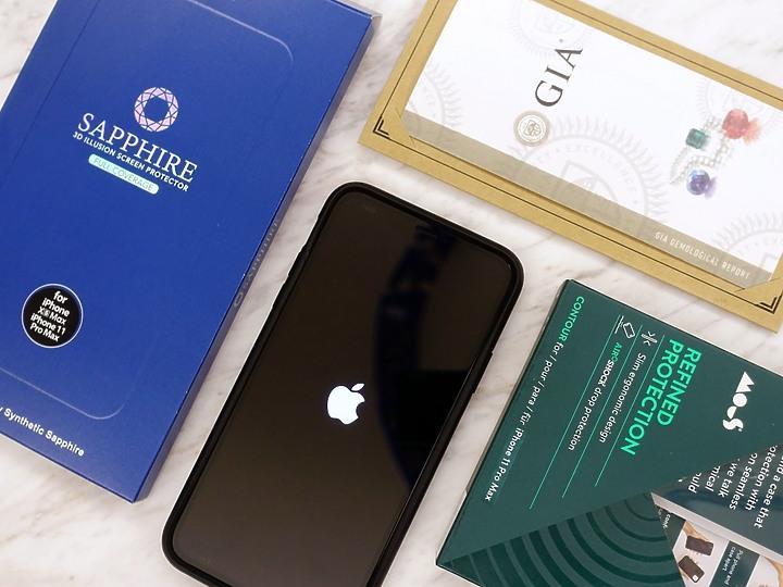 硬度僅次鑽石 hoda 藍寶石幻影3D保護貼 頂級抗刮保護你的iPhone - 1