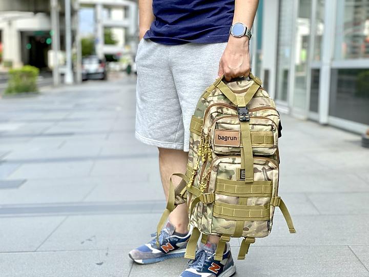bagrun 二代都會玩家軍事風格瞬開後背包 一款多功能/好背/好看的背包 - 19