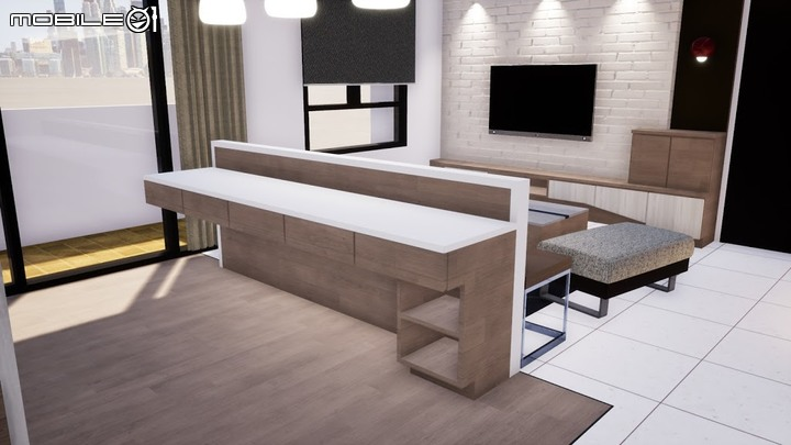 客廳3D圖-PULO裝潢平台