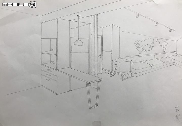 格局手繪圖-裝潢真案例-PULO裝潢平台