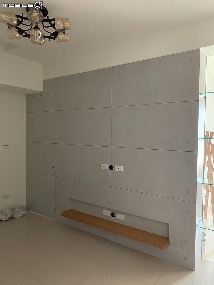 清水模電視牆-裝潢真案例-PULO裝潢平台