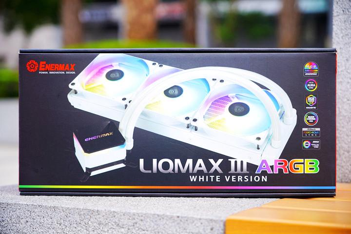 SuperCool 極度降溫,安耐美虹彩晶凌雪白版 LIQMAX III 360 ARGB W...9354