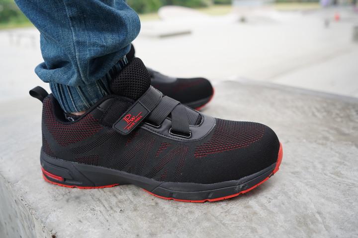 NiceLife最潮鋼鐵鞋:CNS20345國家認證|鋼鐵紅黑免鞋帶安全鞋|有型強悍 - 20