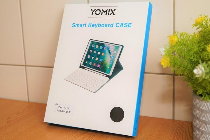 開箱YOMIX 優迷 iPad Air4 10.9吋 / iPad Pro 11吋 磁吸式藍牙鍵盤皮套保護組 - 2