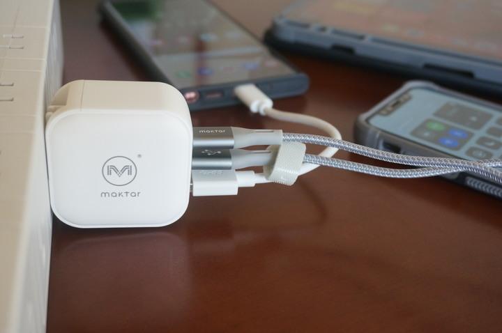 Maktar 66W GaN口袋快充 : 3孔快充手機平板筆電充電一次滿足!!4913